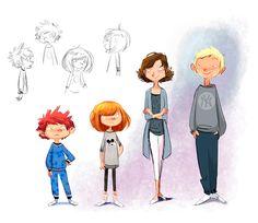 Character designs (II) on Behance