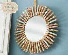How to make a clothespin mirror - Mod Podge Rocks