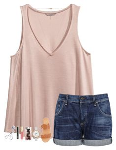 """""""Basketball is officially over!"""" by sweet-n-southern ❤ liked on Polyvore featuring H&M, Citizens of Humanity, Jack Rogers, Skagen, Casetify, Smith & Cult, NARS Cosmetics and Carbon & Hyde"""