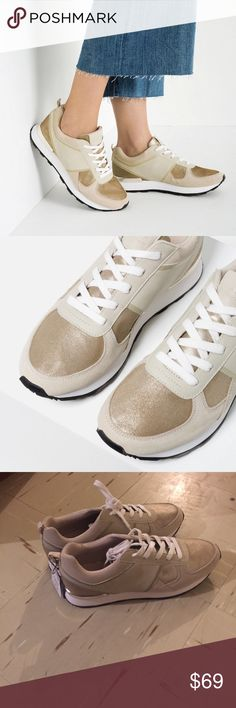 Zara sneakers Brand new with tags Zara women fashion sneakers in size euro 42 which is a true U.S size 11 . 😡NO TRADE😡 Zara Shoes Sneakers