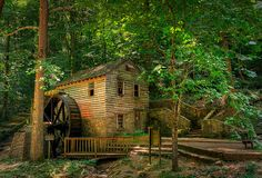 Rice Grist Mill.  	A view of the old Rice grist mill, at Norris Lake north of Knoxville  Tennessee