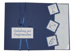 Einladung Kommunion Konfirmation KOMPLETT Text ink von PapierDesign-NRW auf DaWanda.com
