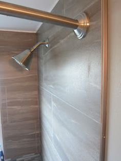 Something that I remembered after that last post was that I hadn't talked about how we edged out our shower tile. When I first started look. Master Shower, Tiling, Door Handles, Home Decor, Door Knobs, Decoration Home, Room Decor, Home Interior Design, Home Decoration
