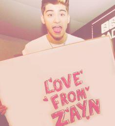 Awww Zayn i know you love me!!!!!!!