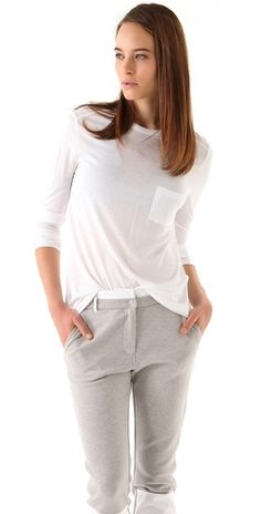 always the best:  T by Alexander Wang Classic Long Sleeve Tee with Pocket