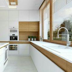 """1,388 curtidas, 23 comentários - Diléia BezerraArq + Int. (@dileiabezerra_arquiteta) no Instagram: """"A madeira está em alta ...Inspire-se nessas lindas cozinhas contemporâneas  Meu ig…"""""""