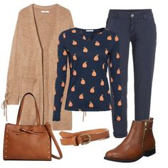 Una simpatica maglietta Modest Outfits, Casual Outfits, Cute Outfits, Curvy Women Fashion, Urban Fashion, Fall Outfits For Work, Polyvore Outfits, My Style, How To Wear