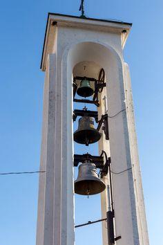 Glockenturm in Fonyód Comic, Hungary, House