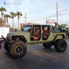 Military-style 4 Door Jeep
