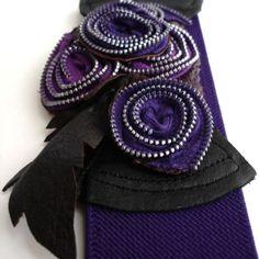 Decadent Elastic Belt - Purple Prince
