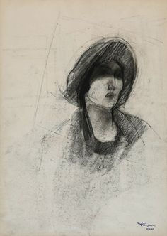 Palais des Beaux-Arts de #Lille @PBALille : Un peu + de mystère ici... G. van #Zevenberghen, étude de femme (XXe) #GraphicBattle #expressions #ExpoFabrique #Angers #dessin #drawing #exhibition
