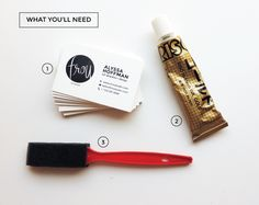 DIY painted edge business cards