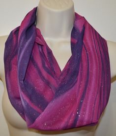 Purple tones infinity scarf, striped infinity scarf, women scarf, women loop, spring scarf, summer/fall scarf by byJuliasDesigns on Etsy