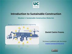 Case studies. Sustainable Construction Materials. Francisco Javier Cervigon Ruckauer
