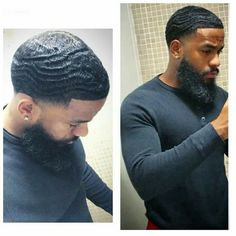 Amazing Mens Fade Hairstyles Ideas 32 Take a look at some cool Visit Our Site for more Cool Content for and Black Men Haircuts, Black Men Hairstyles, Best Short Haircuts, Curly Hairstyles, Waves Hairstyle Men, Waves Haircut, Haircut Men, Father And Girl, Beard Styles