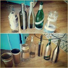 6 originales técnicas para decorar con botellas de vidrio Mason Jar Crafts, Bottle Crafts, Mason Jars, Beach Crafts, Summer Crafts, Bottle Cutting, Metal Projects, Diy Supplies, Bottle Art