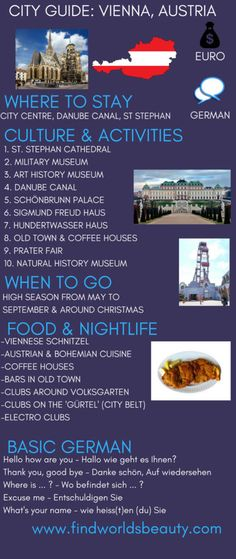 One of the grandest cities on the planet. This Vienna city guide covers where to stay, eat, drink as well as the best things to do in Vienna, Austria. World Travel Guide, Europe Travel Tips, European Travel, Travel Destinations, Dubrovnik, Utrecht, Old Town Coffee, Dublin, Travel Humor