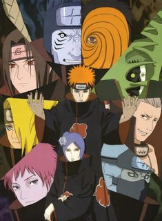 New Akatsuki - Naruto Anime Japanese Window Curtain Door Entrance Room Partition Anime Naruto, Naruto Shippuden Sasuke, Naruto Kakashi, Manga Anime, Sasori And Deidara, Hidan And Kakuzu, Madara Uchiha, Naruto Art, Pain Naruto