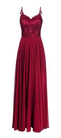 Vestido longo de alça com saia de chiffon e parte superior de renda com detalhes em cetim na vertical, alongando levemente a silhueta. A renda proporciona delicadeza e charme ao modelo. Acrescente ace...