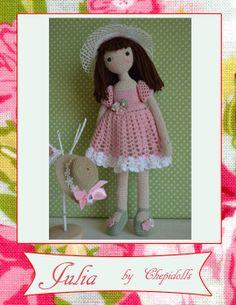 Amigurumi doll, crochet doll ♥ by www.etsy.com/shop/chepidolls