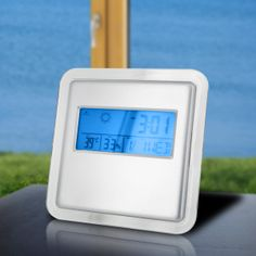 @ShopAndThinkBig.com - The Deluxe Digital Alarm Clock With Weather Station And Kickstand Features Multiple Informative Functions In One Attractive, Portable Device. Ideal For Home, Office, Or Travel, Its Calendar Includes 12 Or 24-Hour Time Along With Year, Month, Date, And Day Of The Week. The Deluxe Alarm Clock Also Displays Indoor Temperature And Humidity And Uses That Information To Provide A Weather Forecast. With Alarm And Snooze Function As Well As A Kickstand And Blue Backlight, The…