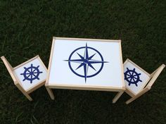 Nautical Decor Personalized Kids Table and by TheCraftyGeeks