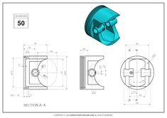 Mechanical Design, Mechanical Engineering, Autocad Isometric Drawing, Cad 3d, 3d Things, 3d Tutorial, Cad Drawing, Drawing Practice, Wilderness Survival