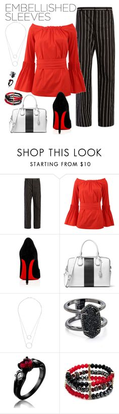 """""""Sleeves are where it's at!"""" by meaghanmcg ❤ liked on Polyvore featuring Balenciaga, Oscar de la Renta, Christian Louboutin, MICHAEL Michael Kors, Witchery, Kendra Scott and New Directions"""