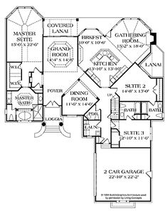 Center Kitchen (HWBDO02591) | New American House Plan from BuilderHousePlans.com
