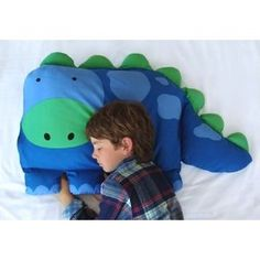 Dinosaur Kids Pillow Case---so cute!!!! I want this for Ry!!!