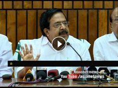 Ramesh Chennitala's response on CM controversial Statement