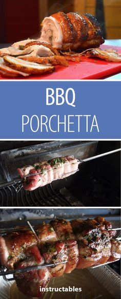 MMMM.....PORK. Ever wanted to try making your own pork porchetta? Don't let this tasty treat intimidate you, it's easier to make than you think! Follow this simple #Instructable to make your own #BBQ porchetta!  #grilling #cooking #foodie #ham #pork #foodporn #yum #summerBBQ #summer Grilling Recipes, Pork Recipes, Bbq Rotisserie, Summer Bbq, Yummy Treats, Barbecue, Ham, Dinner Ideas, Smoking