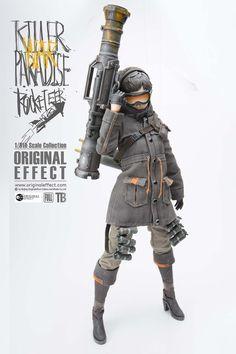 [OE-ROCKETEER] ORIGINAL EFFECT - 1/6 Killer Paradise Rocketeer Action Figure