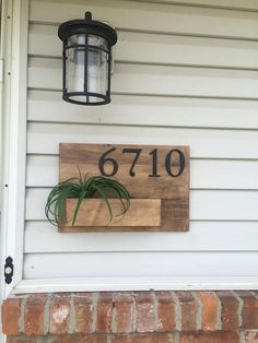 House Number Planter Box / Address Plaque