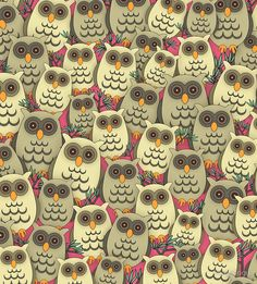 'Owls All-Over' Zipper Pouch by imagology Owl Cartoon, Cute Cartoon, Zipper Pouch, Owls, Gifts, Stuff To Buy, Top, Presents, Owl
