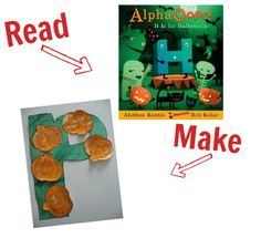Read with a child, craft with a child.  Great Halloween themed books and crafts to scare up some excitement!