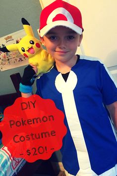 Make an Ash Ketchum costume for your Pokemon lover for just $20. www.FrugalFloridaMom.com