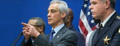 Chicago Mayor Rahm Emanuel, left, had vowed to track down the killers of 9-year-old Tyshawn Lee. (AFP/Scott Olson)