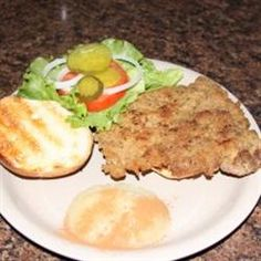 Traditional Indiana Breaded Tenderloin Sandwich (Allrecipes.com) - Yum, this looks similar to one served at a local restaurant, Crazy Horse Cafe. Hope it's as good.