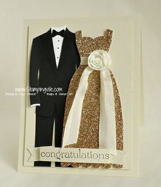 Stampin Up! Dress Up Framelits Congratulations Card