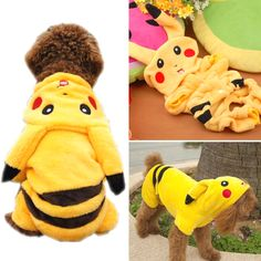 CUTE PIKACHU DOG COSTUME     Great deal .Check it out >>>>>   http://amzn.to/29zTOJc