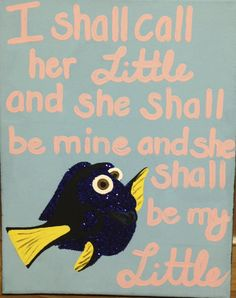 ADPi Big Little Crafts! Dory!! I shall call her little and she shall be mine and she shall be my little!!