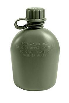 G I 1 Quart Olive Drab Plastic Canteen -- Read more reviews of the product by visiting the link on the image. This is an Amazon Affiliate links.