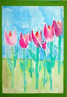 Tekenen en zo: Tulpen; de lente komt!