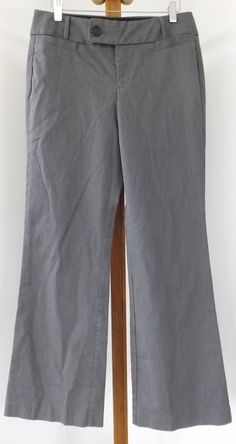 Banana Republic Womens Dress Pants Size 6R Casual Gray #BananaRepublic #DressPants