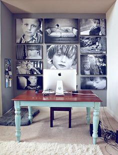 Canvas Photo Idea.  Gallery Wall Ideas and Inspiration for PIcture Frame Displays.  Family picture frame ideas and ornament for displaying your home portraits.