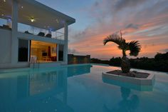 Hear the #pool calling your name? Here, you can jump (or step) in right from your bedroom.