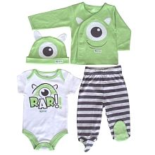 Disney Take Me Home 4 Piece Set - Monsters Inc. -  3 Months $14.97