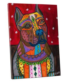 Shop for Heather Galler 'American Staffordshire' Dog Gallery-wrapped Canvas Wall Art. Get free delivery On EVERYTHING* Overstock - Your Online Art Gallery Store! Dog Pop Art, Dog Art, Art Pop, White Labrador, Dog Poster, Ceramic Coasters, Poster Prints, Art Prints, American Staffordshire