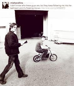 A classic Misha tweet. <3 #SupernaturalCast #JensenAckles #JaredPadalecki